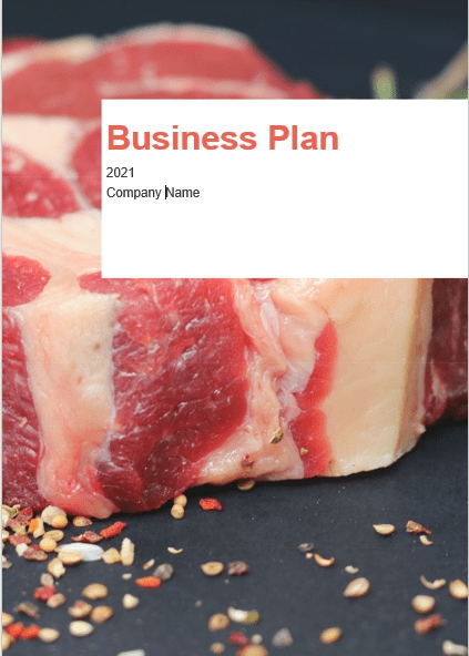 Meat Shop Business Plan Template