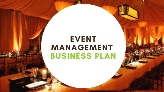 Event Management business plan Cover Photo