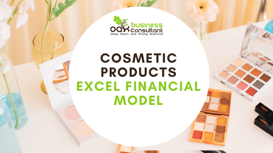 Cosmetic Products Excel Financial Model Cover Photo