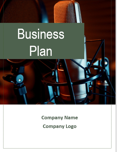Radio Broadcasting Business Plan cover