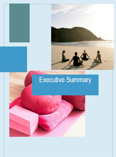 Yoga Studio Business Plan executive summary